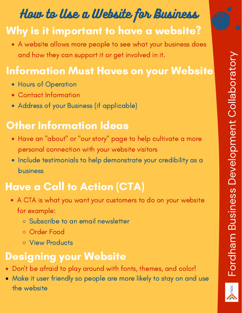 Web Dev Infographics - How to Use a Website for Business